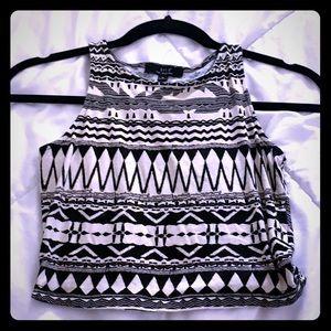 Tops - Tribal crop top shirt